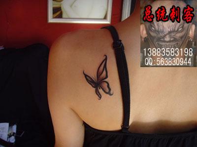 纹身-总统刺客纹身馆官方网站-黑白作品-蝴蝶纹身